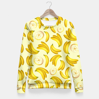 Thumbnail image of Banana Fruity Pattern  Fitted Waist Sweater, Live Heroes