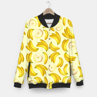 Thumbnail image of Banana Fruity Pattern  Baseball Jacket, Live Heroes