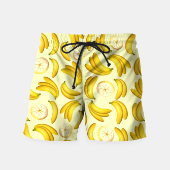 Thumbnail image of Banana Fruity Pattern  Swim Shorts, Live Heroes