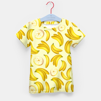 Banana Fruity Pattern  Kid's T-shirt thumbnail image