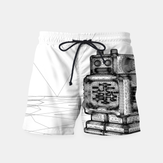 Thumbnail image of Robot solo Swim Shorts, Live Heroes