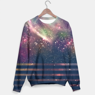 Thumbnail image of Womens Stripy Abstract Galaxy Sweater, Live Heroes