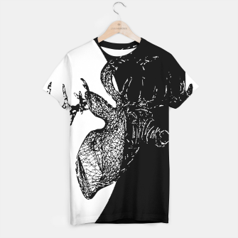 Thumbnail image of Black white deer T-shirt, Live Heroes