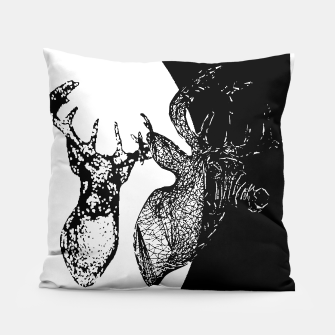 Thumbnail image of Black white deer Pillow, Live Heroes