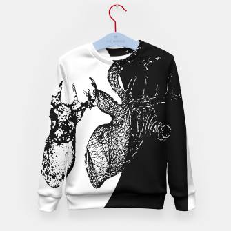 Thumbnail image of Black white deer Kid's Sweater, Live Heroes