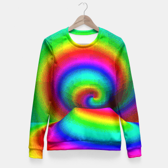 Thumbnail image of rainbow pixels Fitted Waist Sweater, Live Heroes