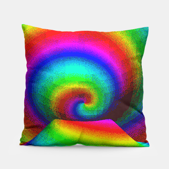 Thumbnail image of rainbow pixels Pillow, Live Heroes