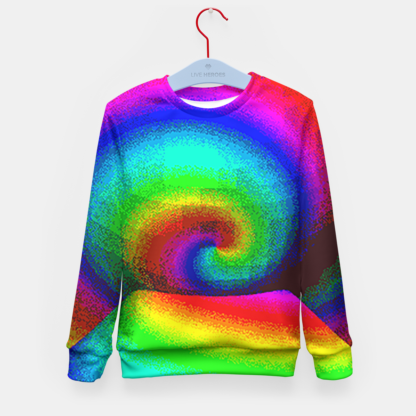 Image of rainbow pixels Kid's Sweater - Live Heroes