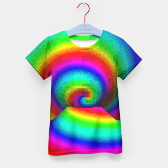 Thumbnail image of rainbow pixels Kid's T-shirt, Live Heroes