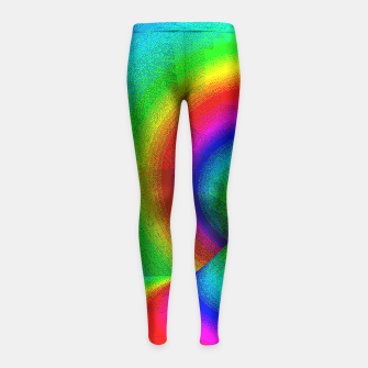 Thumbnail image of rainbow pixels Girl's Leggings, Live Heroes
