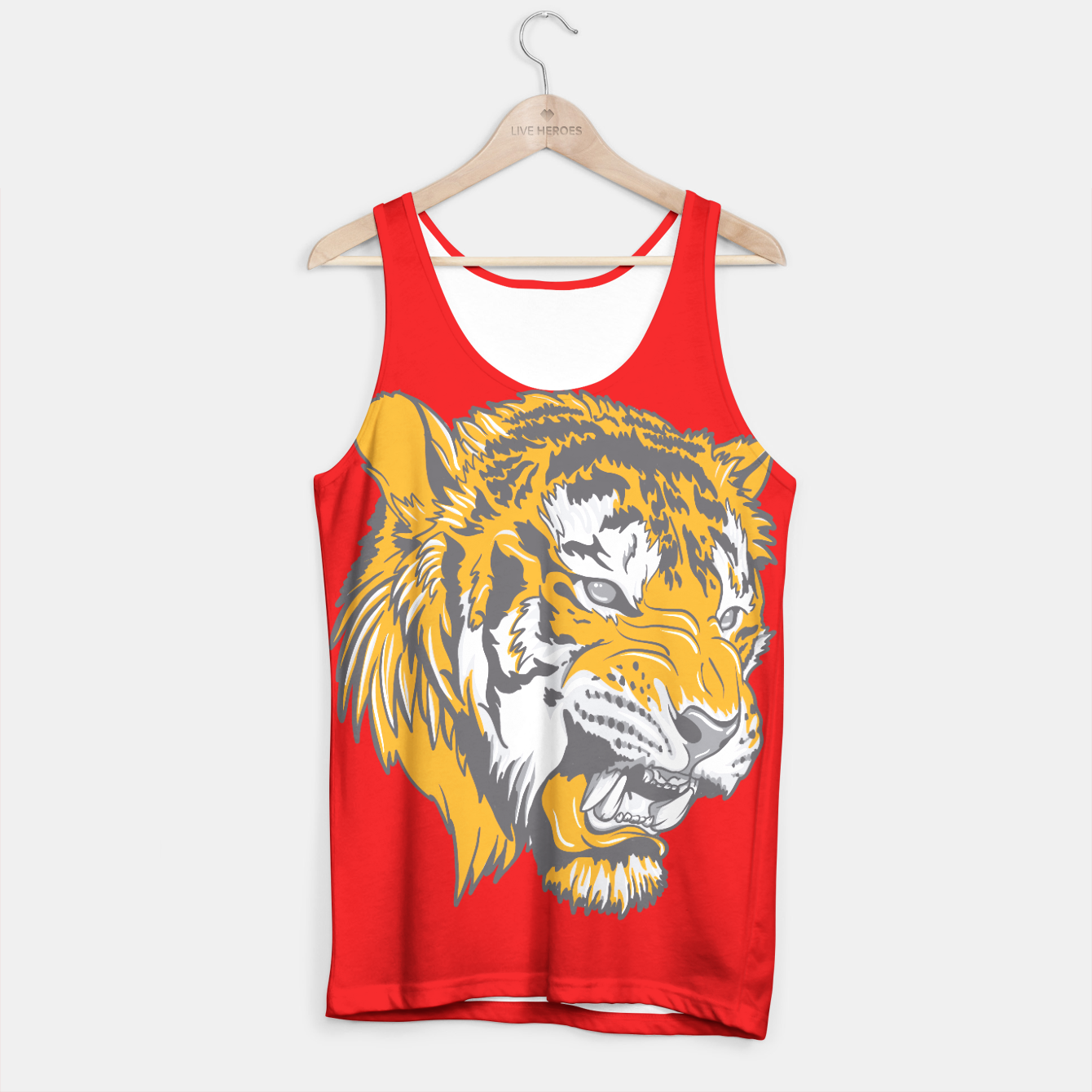 Image of Red Tiger Tank Top - Live Heroes