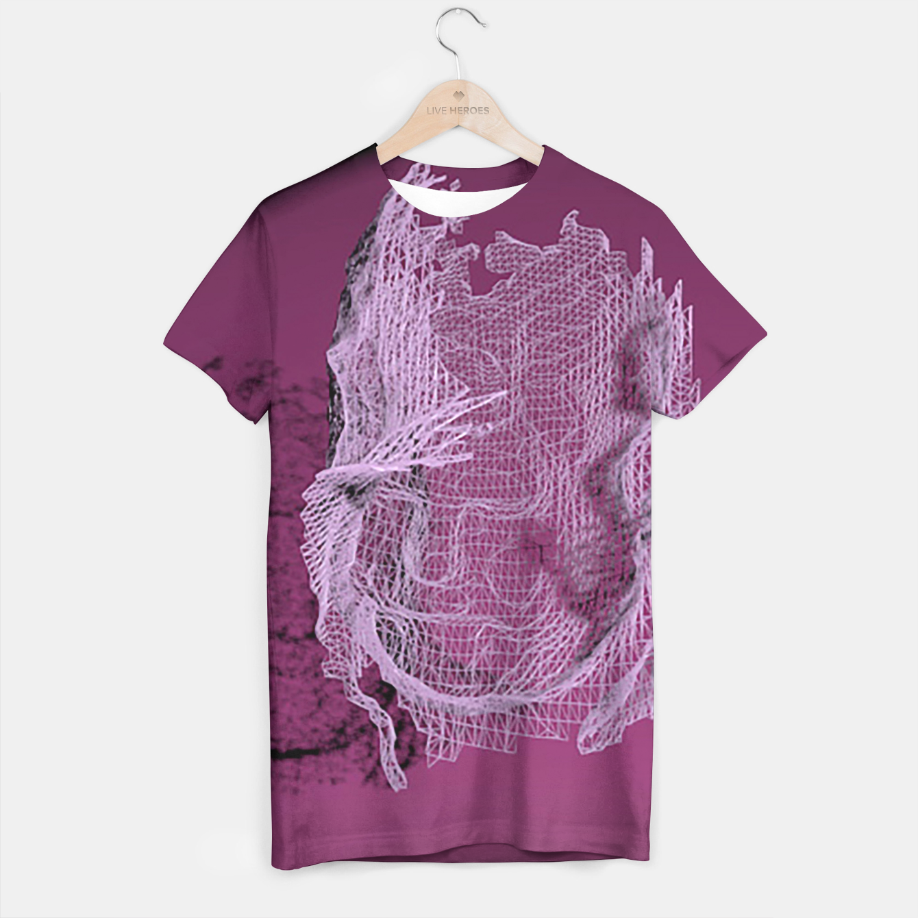 Image of art wire T-shirt - Live Heroes