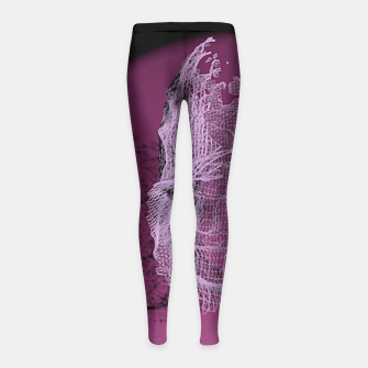 Thumbnail image of art wire Girl's Leggings, Live Heroes