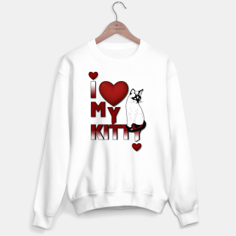Thumbnail image of I Love My Kitty Cat Hearts Sweater regular, Live Heroes