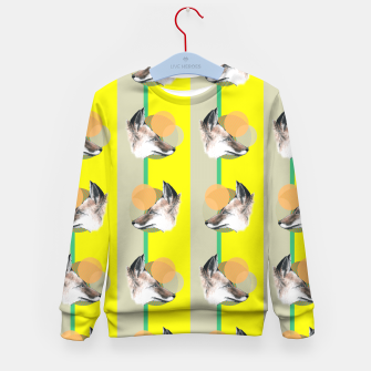 Thumbnail image of Fox does Eighties  Kid's Sweater, Live Heroes