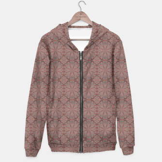 Thumbnail image of Peach, gray and chocolate lace Hoodie, Live Heroes