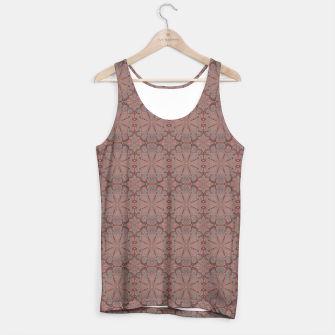 Thumbnail image of Peach, gray and chocolate lace Tank Top, Live Heroes