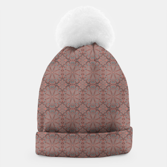 Thumbnail image of Peach, gray and chocolate lace Beanie, Live Heroes