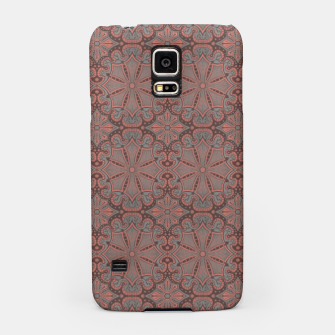 Thumbnail image of Peach, gray and chocolate lace Samsung Case, Live Heroes