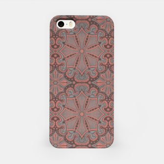 Thumbnail image of Peach, gray and chocolate lace iPhone Case, Live Heroes