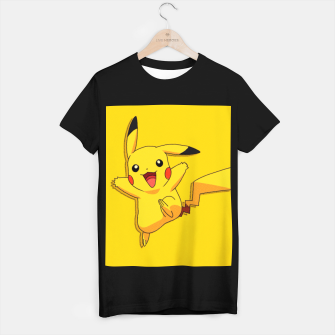 Thumbnail image of Comic Pikachu Camiseta Regular, Live Heroes