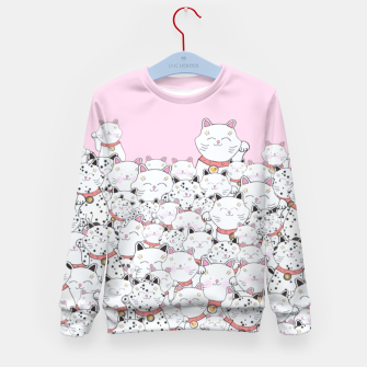 Thumbnail image of LUCKY CAT PINK by MOnika Strigel Kids Sweater, Live Heroes