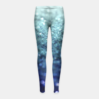 Thumbnail image of FROZEN OCEAN GLITTER BY MONIKA STRIGEL GIRLS LEGGINS , Live Heroes