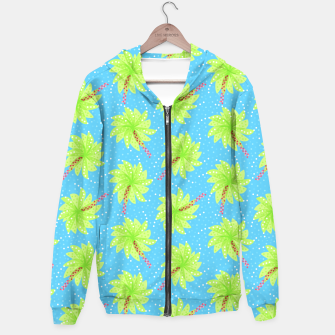 Thumbnail image of Dots And Abstract Palm Trees Hoodie, Live Heroes