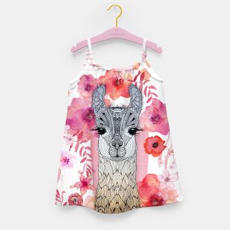 Thumbnail image of FLOWER BABY LAMA BY MONIKA STRIGEL GIRLS DRESS, Live Heroes