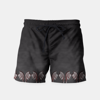 Thumbnail image of Vampire Wings Border Goth Art Swim Shorts, Live Heroes
