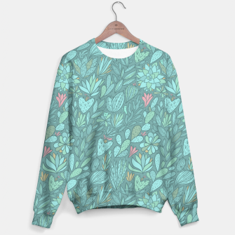 Miniaturka Cactus & Succulents pattern Sweater, Live Heroes