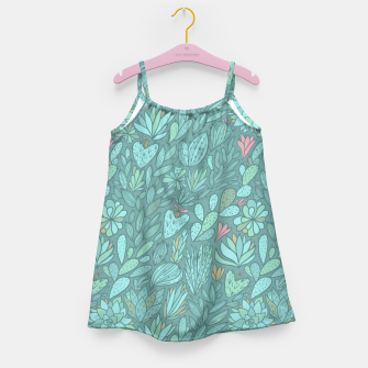 Miniaturka Cactus & Succulents pattern Girl's Dress, Live Heroes
