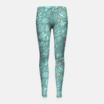 Thumbnail image of Cactus & Succulents pattern Girl's Leggings, Live Heroes