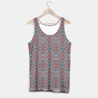 """Thumbnail image of """"Flowers and laurels - gray & red""""  Tank Top, Live Heroes"""