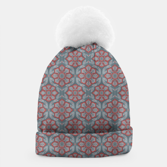 """Thumbnail image of """"Flowers and laurels - gray & red""""  Beanie, Live Heroes"""