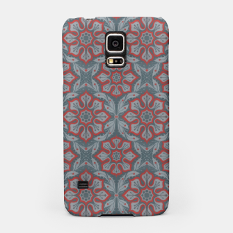 """Thumbnail image of """"Flowers and laurels - gray & red""""  Samsung Case, Live Heroes"""