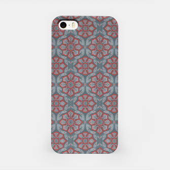 """Thumbnail image of """"Flowers and laurels - gray & red""""  iPhone Case, Live Heroes"""