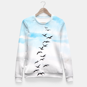 Thumbnail image of Birds Fitted Waist Sweater, Live Heroes