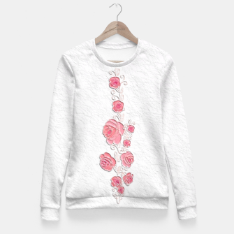 Miniatur Romantic Roses Painting  Fitted Waist Sweater, Live Heroes