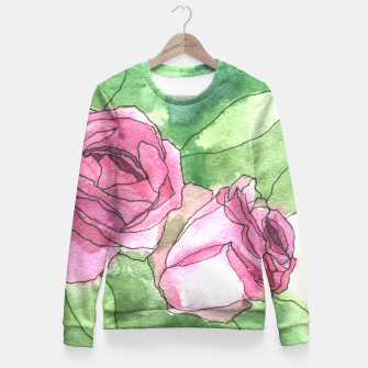 Thumbnail image of Roses Fitted Waist Sweater, Live Heroes