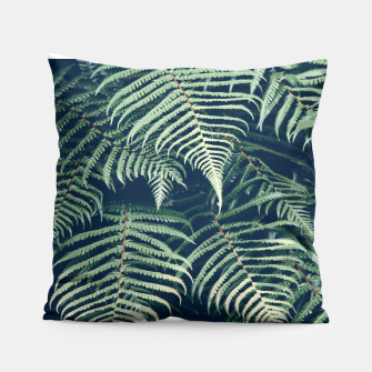 Thumbnail image of Tropical Leaves Dark Print  Coussin, Live Heroes