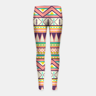 Thumbnail image of Ethnic Love Girl's Leggings, Live Heroes
