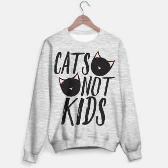 Miniatur Cats not KIDS Sweater regular, Live Heroes