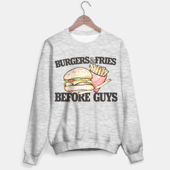 Miniature de image de Burgers and Fries before Guys Sweater regular, Live Heroes
