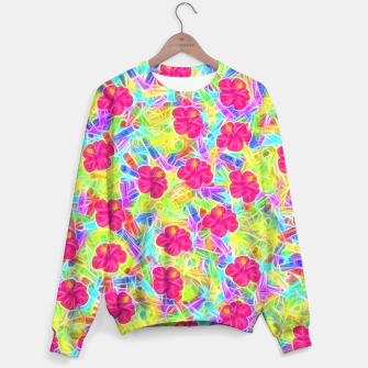 Hawaiian Pink Flowers Sweater thumbnail image
