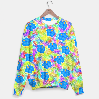 Hawaiian Blue Flowers Sweater thumbnail image