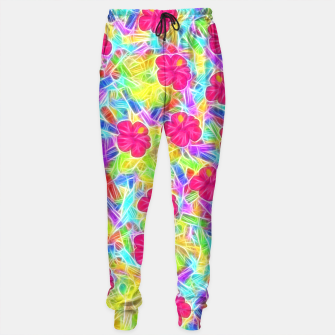 Hawaiian Pink Flowers Sweatpants thumbnail image