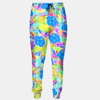 Hawaiian Blue Flowers Sweatpants thumbnail image
