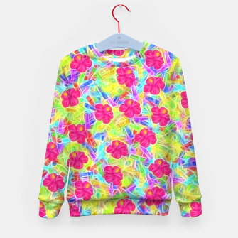 Hawaiian Pink Flowers Kid's Sweater thumbnail image