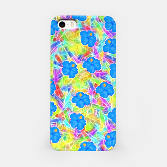 Hawaiian Blue Flowers iPhone Case thumbnail image
